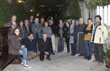 Nella foto di Paola Rosetta i partecipanti all'incontro con Francesco Alberti La Marmora nella serra di Palazzo La Marmora